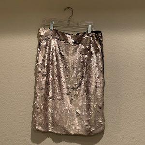 Zara Collection Metallic Sequin Skirt